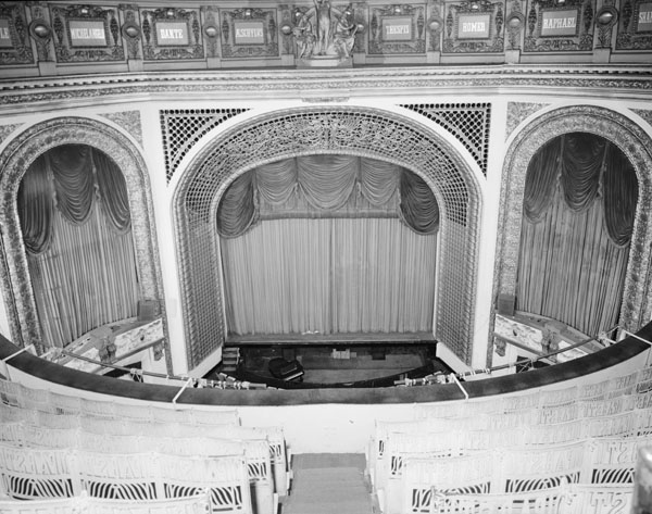 Stage of the Pabst Theater constructed in 1895 at 144 East Wells Street in Milwaukee, Wisconsin