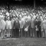 Garry Herrmann with a group of National League team owners, June 11, 1922