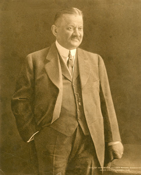 Garry Herrmann as chairman of the National Baseball Commission, undated photograph, ca. 1903–1920