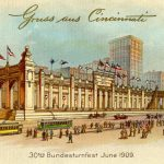 Postcard marking the 1909 Turnfest, held in Cincinnati and organized by Garry Herrmann
