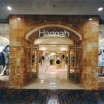 "Exterior of a Fashion Bar ""Hannah"" store, ca. 1980"