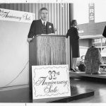 Jack Levy at the celebration of Fashion Bar's 32nd anniversary in 1965
