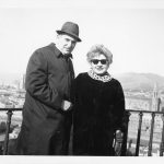 Weil, William and Hannah Levy on a buying trip in Italy, ca. 1980s