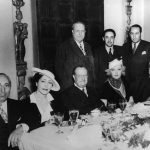 Irving Thalberg Dining with William Randolph Hearst