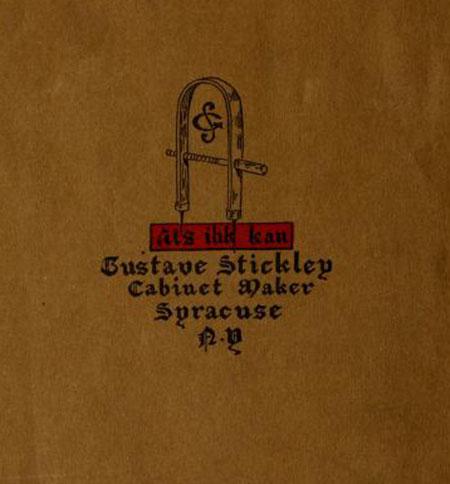"""Gustav Stickley, Trademark and Motto """"Als Ik Kan,"""" 1901"""