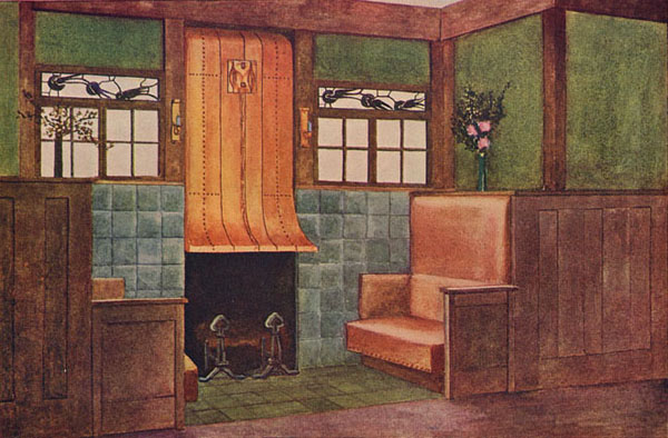 Gustav Stickley, Scheme for a Fireplace, 1904
