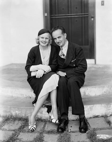 Paul Bern with his wife Jean Harlow