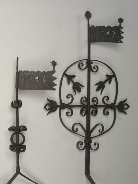 Weathervanes from Augustus Lutheran Church, 1743