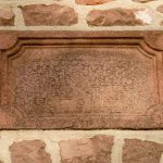 Date stone of Augustus Lutheran Church, 1743