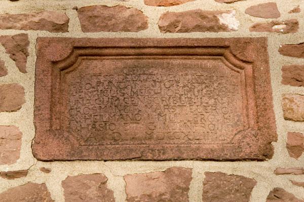 Date stone of Augustus Lutheran Church, 1743