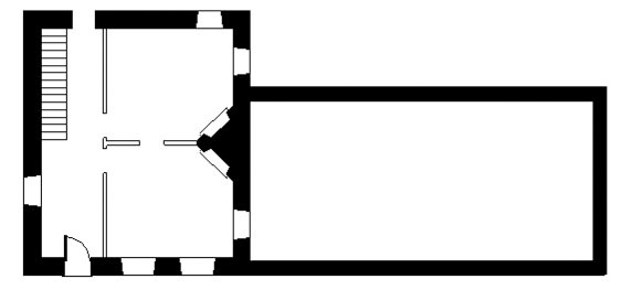 Plan of the Frederick Muhlenberg house with store addition