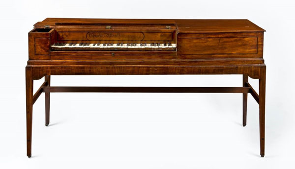 Square piano made by Charles Albrecht, Philadelphia, 1789