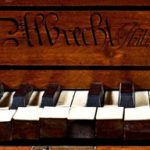 Detail of a square piano made by Charles Albrecht, Philadelphia, 1789