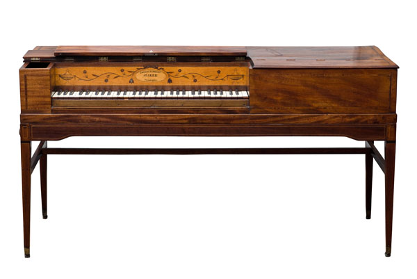 Square piano made by Charles Albrecht, Philadelphia, ca. 1790