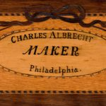 Detail of a square piano made by Charles Albrecht, Philadelphia, ca. 1790