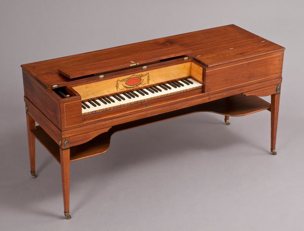 Square piano made by Charles Albrecht and Joshua Baker, Philadelphia, 1800-1805