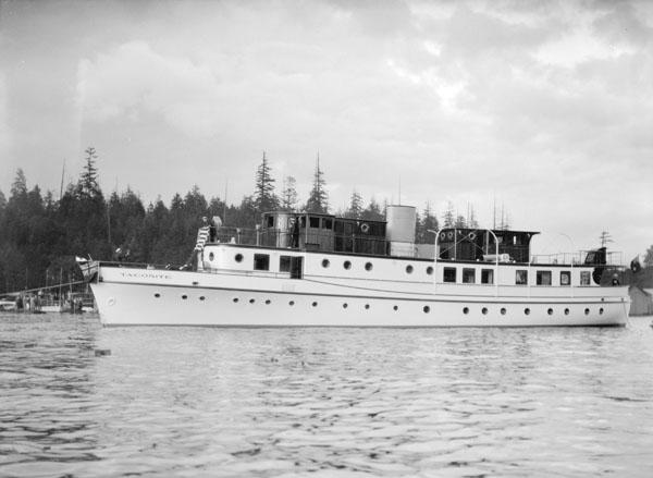 Launching of William E. Boeing's yacht Taconite, June 11, 1930