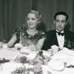 Mary Pickford Dining With Irving Thalberg