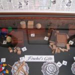 "Display of Froebel's ""Gaben"" (""gifts), First Kindergarten site, Watertown, Wisconsin"
