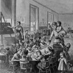 Illustration of a Boston kindergarten, 1881