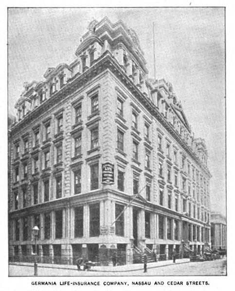 Germania Life Insurance Company headquarters building, New York, N.Y., ca. 1893