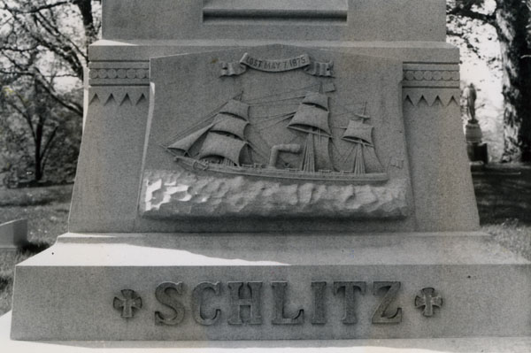 Detail from the Schlitz Cenotaph at Forest Home Cemetery Milwaukee