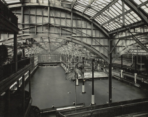Interior view of Sutro Baths, c. 1920s