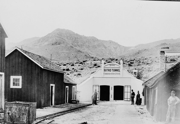 Entrance to the completed Sutro Tunnel