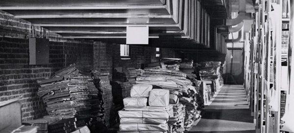 Sutro Library basement, 1956
