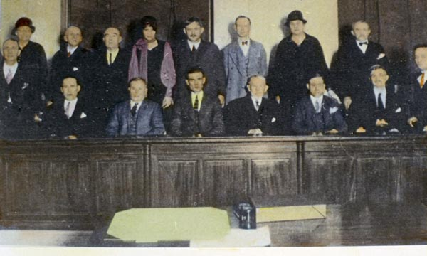 Jury at the Remus murder trial, 1927