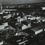 The Heurich Brewery as seen from the air in the 1940s