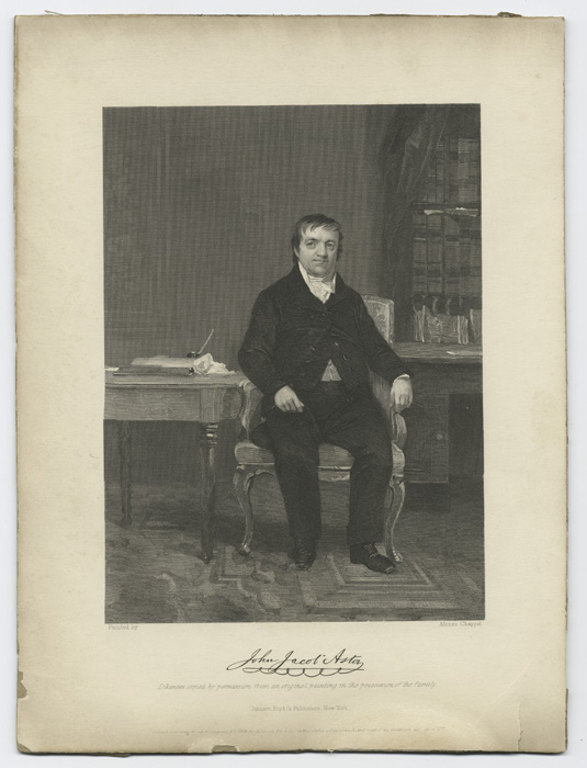 John Jacob Astor, seated