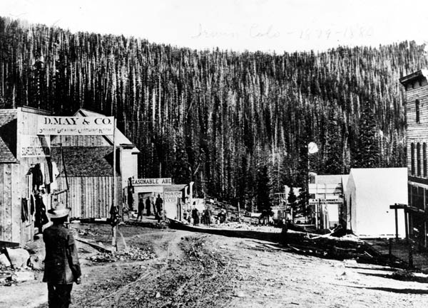 May Company store in Irwin, Colorado, early 1880s