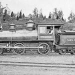 Locomotive Jupiter, Santa Cruz Railroad, ca. 1876