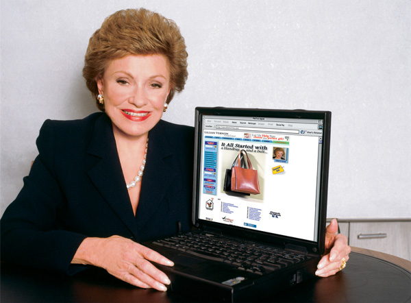 Lillian Vernon with her company's newly launched website