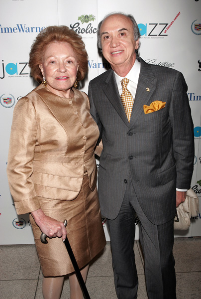 Lillian Vernon and Paolo Martino at the Lincoln Center