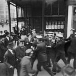 Striking workers during the Garment Workers' Strike of 1915
