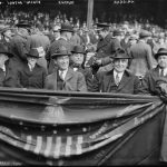 Albert Lasker with Warren Harding at Yankee Stadium, April 24, 1923