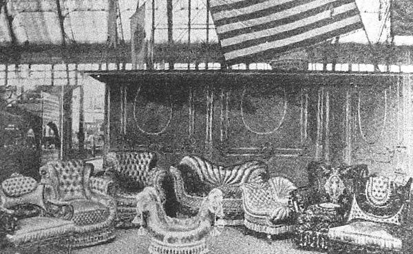 Karpen furniture on exhibit at the World's Fair in Chicago in 1893