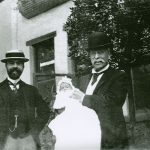 Henry Villard with Son Harold and Grandson Henry Serrano, March 30, 1900