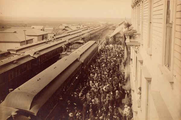 Northern Pacific Railroad Golden Spike Excursion, Fargo, North Dakota Territory, 1883