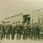 Henry Villard at the Northern Pacific Railroad Golden Spike Excursion, 1883