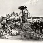 Northern Pacific Railroad Gold Spike Excursion Illustration, n.d.