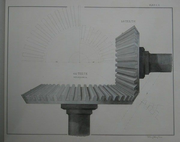 Engineering drawing by Mary Hegeler, c. 1881