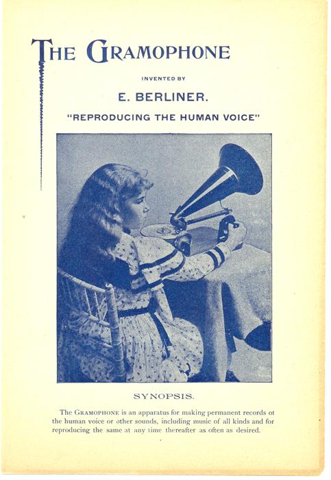 Berliner Gramophone Pamphlet