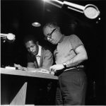 Duke Pearson and Alfred Lion at a Recording Session, 1966