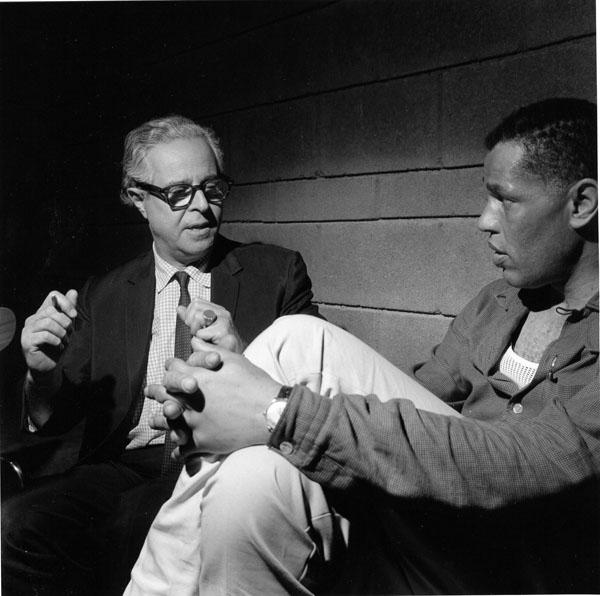 "Alfred Lion and Dexter Gordon at Gordon's ""Gettin' Around"" Session, 1965"