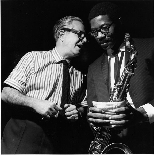 "Alfred Lion and Joe Henderson at Grant Green's ""Idle Moments"" Session, 1963"