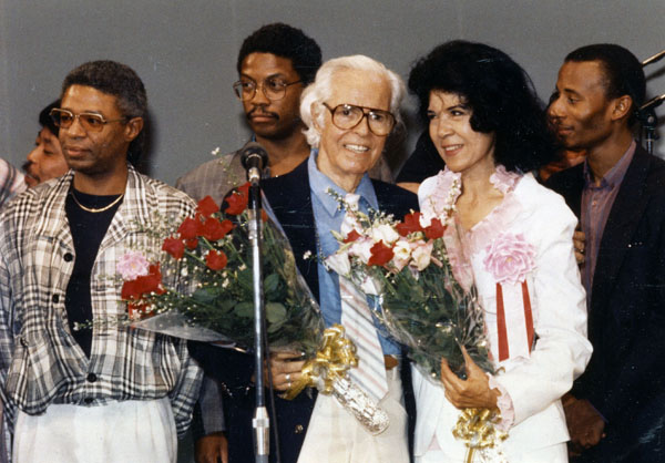 Alfred and Ruth Lion honored at the Mt. Fuji Jazz Festival, 1986