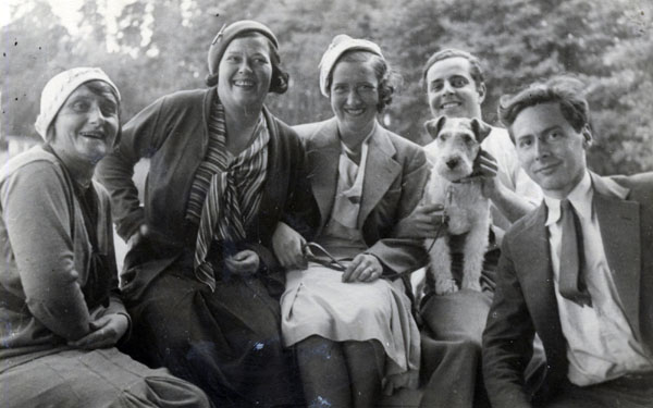 Alfred Lion and Frank Wolff with Friends in Berlin, Germany, c. 1930